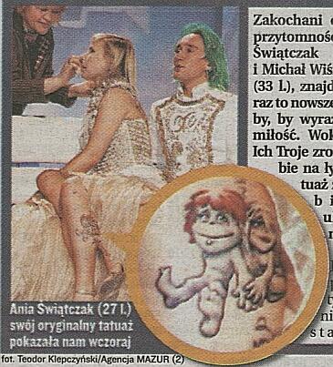 Tatuaż z Michałem Wiśniewskim